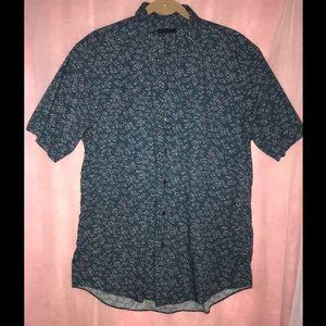 Zachary Prell blue dress shirt button down 👔Sz L